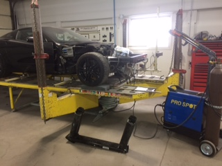 Replacing the aluminum front frame on a 2016 Corvette